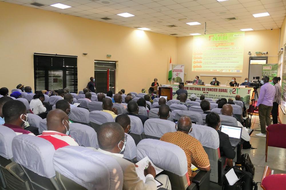 Plusieurs acteurs du foncier rural ont pris part à la première édition du forum